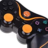 Newest Black+Orange DoubleShock Wireless Game Controller For Sony PS3