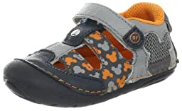 Stride Rite Disney SRT SM Mickey Mouse Sandal (Infant/Toddler),Grey/Navy,3 W US Infant