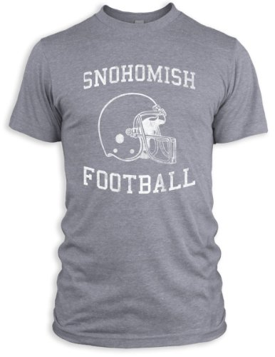 Vintage Distressed Snohomish Football Tri-Blend T-Shirt, Athletic Grey, L