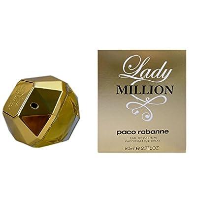 Lady Million by Paco Rabanne Eau De Parfum Spray for Women, 2.70 Ounce