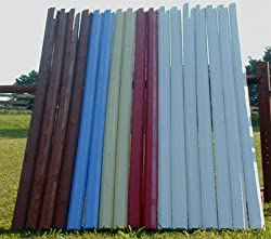 Solid Colored 10ft Rails/Poles Wood Horse Jumps