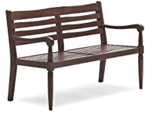 Big Sale Strathwood Redonda Hardwood 2-Seater Bench, Dark Brown
