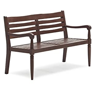 Strathwood Redonda Hardwood 2-Seater Bench, Dark Brown