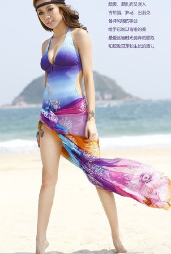 Embroidered Chiffon Sarong Beach Cover-up