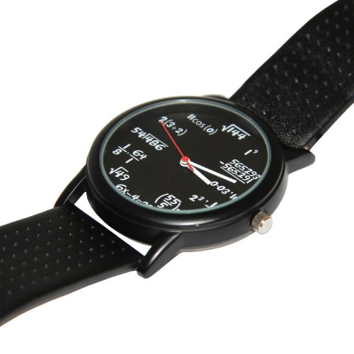 Thumbsup! Equation Unisex Quartz Watch with Black Dial Analogue Display and Black Plastic or PU Strap EQUWAT