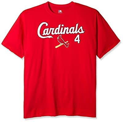 MLB Big and Tall Molina #4 Men's Short Sleeved Two Sided High Density Name Number Tee