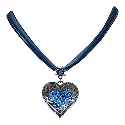 trachtenschmuck-dirndl-kristall-herz-collier-edelweiss-aufhangung-ornamentaler-anhanger-dunkelblau-l