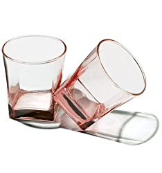 Pasabahce Workshop Carre Color Juice Glass,Pink,310 ml,Set of 6