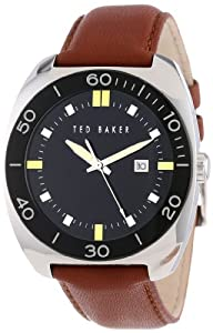 Ted Baker Men's TE1103 Sport Black Dial Analog Date Red Strap Watch