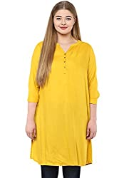 Alto Moda by Pantaloons Women's Tunic ( 205000005646533, Yellow, XXX-Large)
