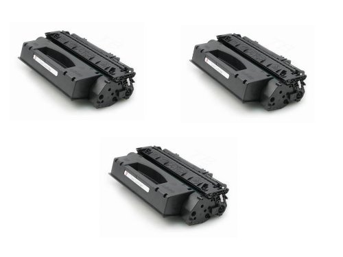 3 Pack Of New Compatible HP Q7553X High Yield Toner Cartridges For HP M2727nf And P2015 Printers