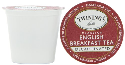 Twinings English Breakfast Decaffeinated Tea, K-Cup Portion Pack for Keurig K-Cup Brewers, 24-Count