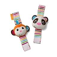 Infantino Wrist Rattles, Monkey and P…