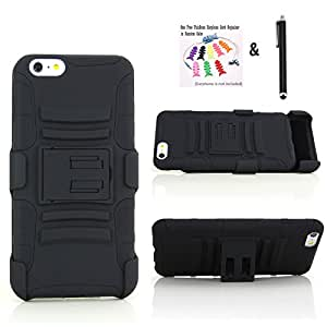 The Little Penguin iPhone 6 Case - Rugged Shock-proof Dust Proof Armor Hybrid Hard and Soft Case and Holster Combo for Apple iPhone 6 (4.7 Inches Display) - Double Layer Case with a Slide-out Kickstand and a Face-in Holster B