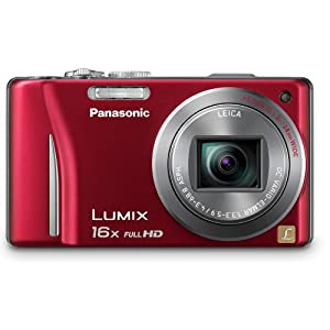 Panasonic Lumix DMC-ZS10 14.1 MP Digital Camera with 16x Wide Angle Optical Image Stabilized Zoom and Built-In GPS Function (Red)