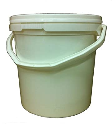 10 Litre Plastic Bucket With Lid, Hard Wearing Bucket - Freepost!
