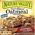 Nature Valley Soft Baked Oatmeal Squares, Cinnamon Brown Sugar, 7.44 Ounce