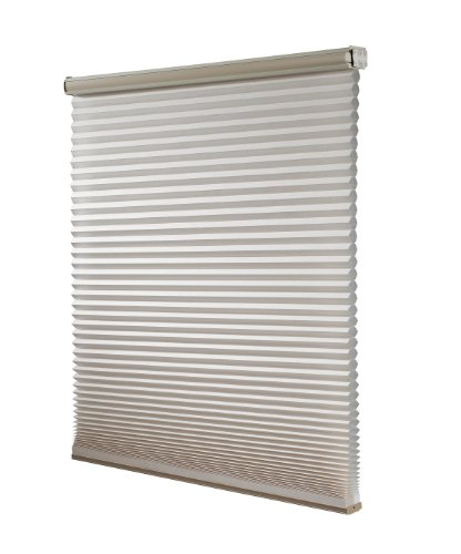 Redi Shade Z00C3651450 Simple Fit Made To Width Custom Cordless Honeycomb Cellular Shades, 36 5/8 -Inch By 72-Inch, Cream Light Filtering front-625104
