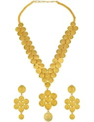 Memoir By Sambhav Crafts Gold Plated CZ Necklace Set For Men (PCKL0716)