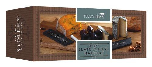 Kitchencraft Master Class Artesa Affichettes à fromage en ardoise