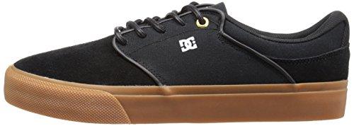 DC Men's Mikey Taylor Vulc Skate Shoe, Black/Gum, 12 M US