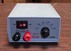 PS-28/CS20 (Casepack of 20) SWITCHABLE 2 AMPS REGULATED DC POWER SUPPLY