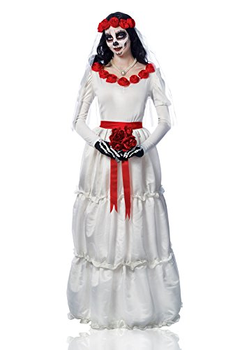 Adult Deluxe Day of the Dead Bride Costume Size Small (4-6)