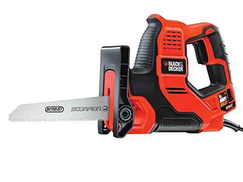 Black + Decker RS890K-GB Scorpion-Powered Hand Saw with Kitbox and Auto-Select, 500 W by BLACK+DECKER (Black And Decker Scorpion Saw compare prices)