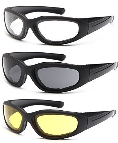 27cb6a03cd TRUST OPTICS Vizgard Safety Glasses Series 3 Pairs Motorcycle Riding Glasses  with Anti Fog UV Protection in Clear