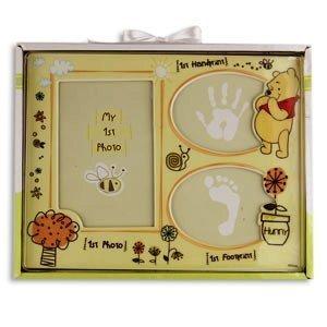 Disney Winnie the Pooh First Photo, Handprint & Footprint Frame - 1