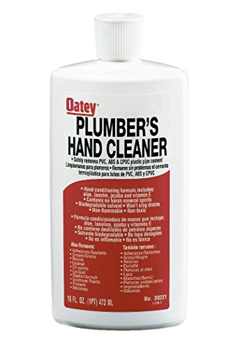 Oatey 30221 Plumber'S Hand Cleaner 16 Fl Oz Squeeze Bottle