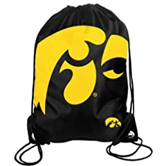 Buy Forever Collectibles NCAA Iowa Hawkeyes Drawstring Backpack by Forever Collectibles