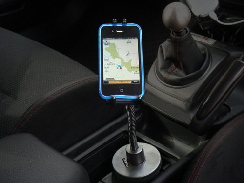 ARKON 回転式 車載ホルダー(カップ・ドリンクホルダータイプ) / iPad mini,iPhone5,iPhone4S,iPod classic/touch,スマートフォン用
