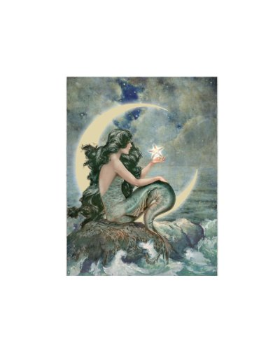 Ohio Wholesale Radiance Lighted Moon Mermaid Canvas Wall Art, From Our Water Collection