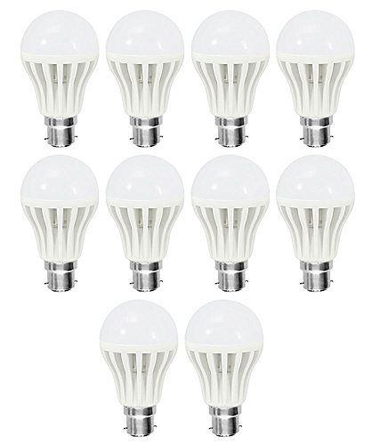 5W B22 Led bulbs (White, Set Of 10)