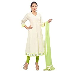 Darbari Women's Cotton Kameez (OL-364_Lime Green_XXl)