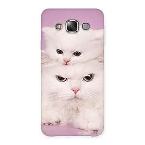 Premium Kitten Family Back Case Cover for Galaxy E7