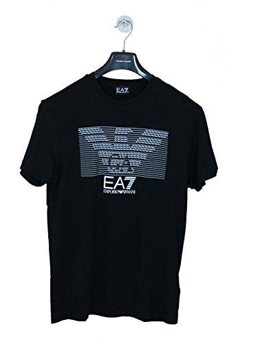T-shirt uomo EA7 EMPORIO ARMANI, big logo, nero, art: 273917 6P237 (Medium, NERO)