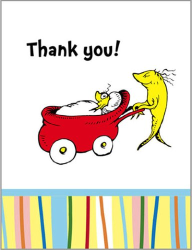 Baby Seuss Thank You Notes