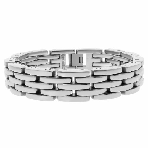 Men's Stainless Steel Wide Link Bracelet, 9
