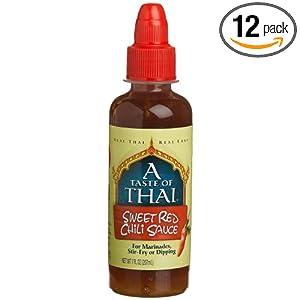 ... Thai Cuisine: A Taste Of Thai Sweet Red Chili Sauce, 7-Ounce Jars