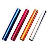 Track and Field Anodized Aluminum Relay Batons - 4 PACK