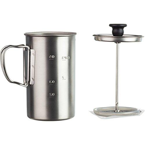 Snow Peak Men's Titanium Coffee Press, Silver, One Size (Coffee Press Titanium compare prices)