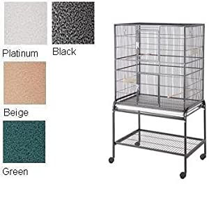 HQ 32x21 Flight Bird Cage & Stand for Finch & Small Birds-Platinum