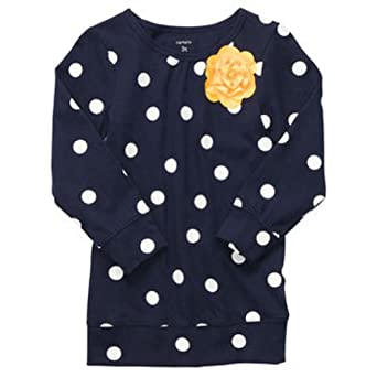 Carter's Denim Brights Collection: Long-sleeve Polka Dot Tunic (2T - 6x) (6 Kids, Navy)