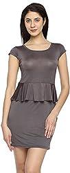 Texco Garments Women's A-Line Dress (20, Chocolate Brown, L)