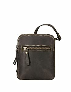Visconti Hunter Distressed Leather Small Cross Body Messenger Shoulder bag - 16046