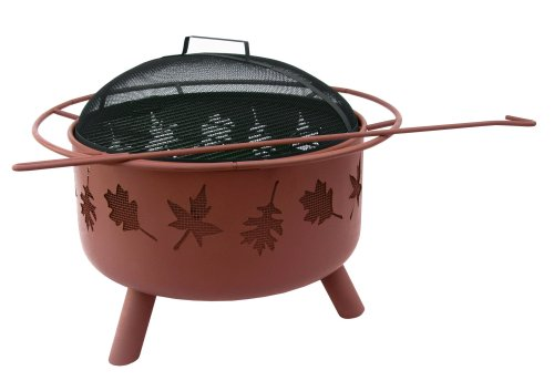 Landmann USA Big Sky Firepit and Grill, Tree Leaves