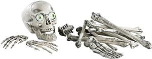infactory 18-teiliges Grusel-Skelett: Totenschädel & Knochen mit Sound