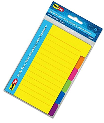 redi-tag-29500-4inch-x-6inch-divider-notes-neon-colors-2-pack